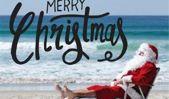 Santa at beach