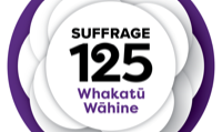 Suffrage 125 logo